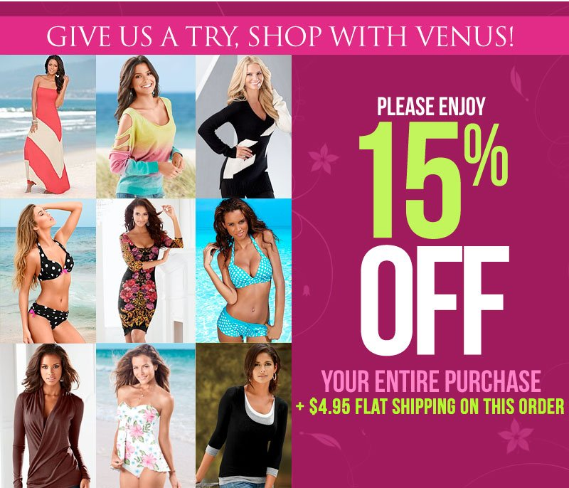 So... what are you waiting for? TRY US! Get an Extra 15% off EVERYTHING + $4.95 Shipping! SHOP NOW!