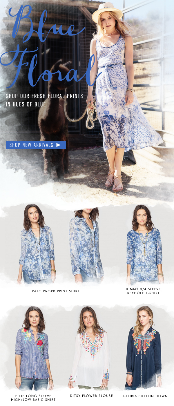 Blue Floral: Shop our Fresh Floral Prints in Hues of Blue