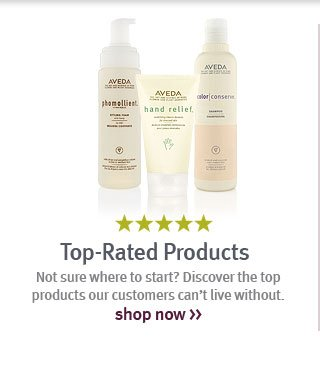top rated products. start shopping.