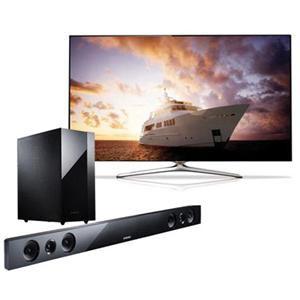 Adorama - Samsung UN46F7500 46 1080p 240Hz 3D LED Smart TV - Bundle - with Samsung HW-F450 2.1 Channel HDMI Sound Bar System with Wireless Subwoofer