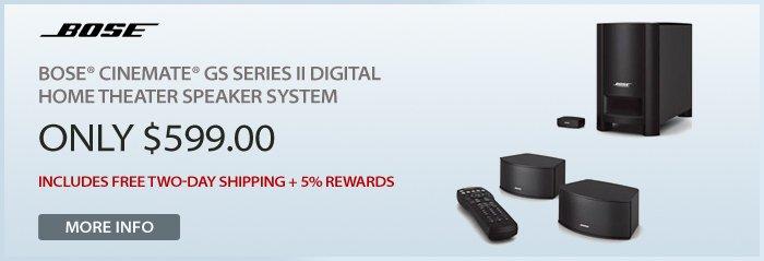 Adorama - Bose® CineMate® GS Series II Digital Home Theater Speaker System