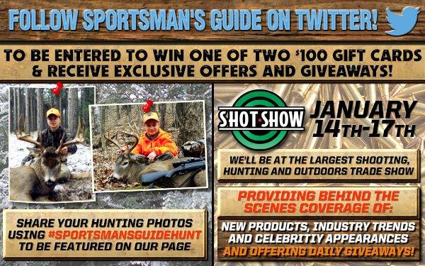 Follow Sportsman's Guide on Twitter