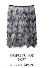 Ombre Fringe Skirt $49.74