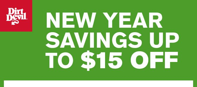 New Year Savings Up To $15 Off!