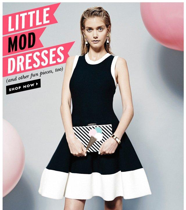 little mod dresses. shop now.
