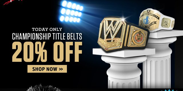 WWE Championship Title Belts are 20% Off!
