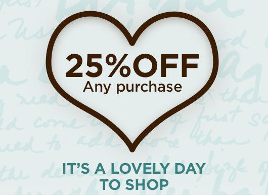 25% off any $75 purchase