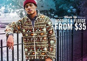 Shop Warm Up: Hoodies & Fleece from $35