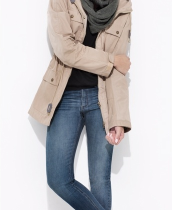 Reason Moutain Parka Classic Skinny Circle Scarf