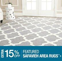 Extra 15% off Featured Safavieh Area Rugs**