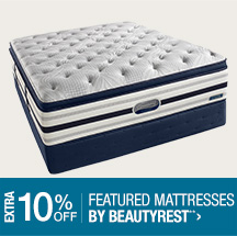 Extra 10% off Featured Beautyrest Mattresses**