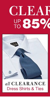 Clearance Dress Shirts - up to 85% Off*