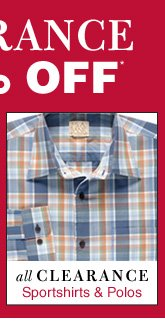 Clearance Sportshirts & Polos - up to 85% Off*