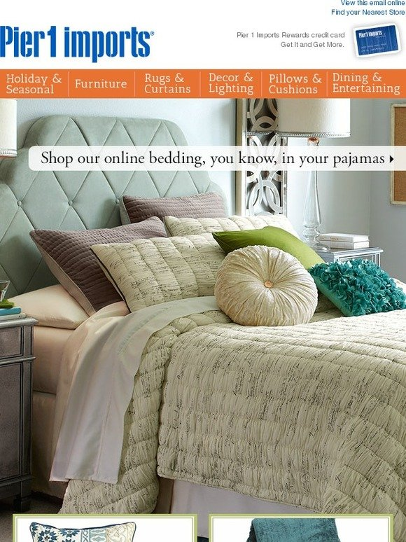Pier 1 Spread the news We have a dreamy selection of bedding online Milled   Pier. Peir One Bedding    iSupportPchs com