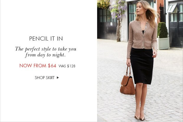 Download Images: Washed Velvet Pencil Skirt