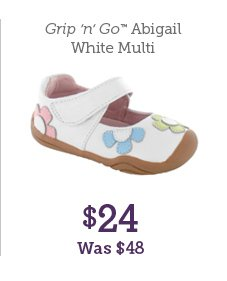 Grip 'n' Go Abigail White Multi $24 Was $48