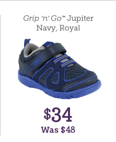 Grip 'n' Go Jupiter Navy, Royal $34 Was $48