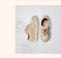Natural Burlap Tiny TOMS Cordones