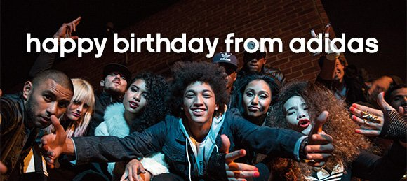 happy birthday from adidas »