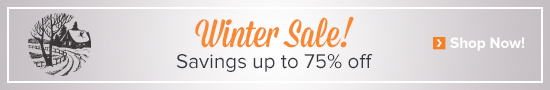 Winter Sale - Save up to 75%!