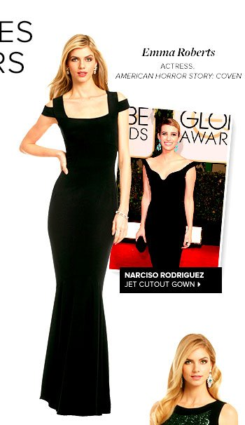 NARCISO RODRIGUEZ - Jet Cutout Gown