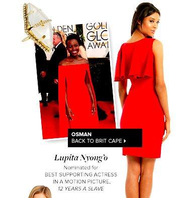 OSMAN - Back To Brit Cape Dress