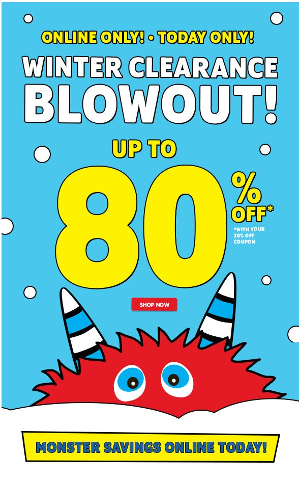 Up to 80% off Clearance!