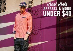 Shop Best Bets: Apparel & More Under $40