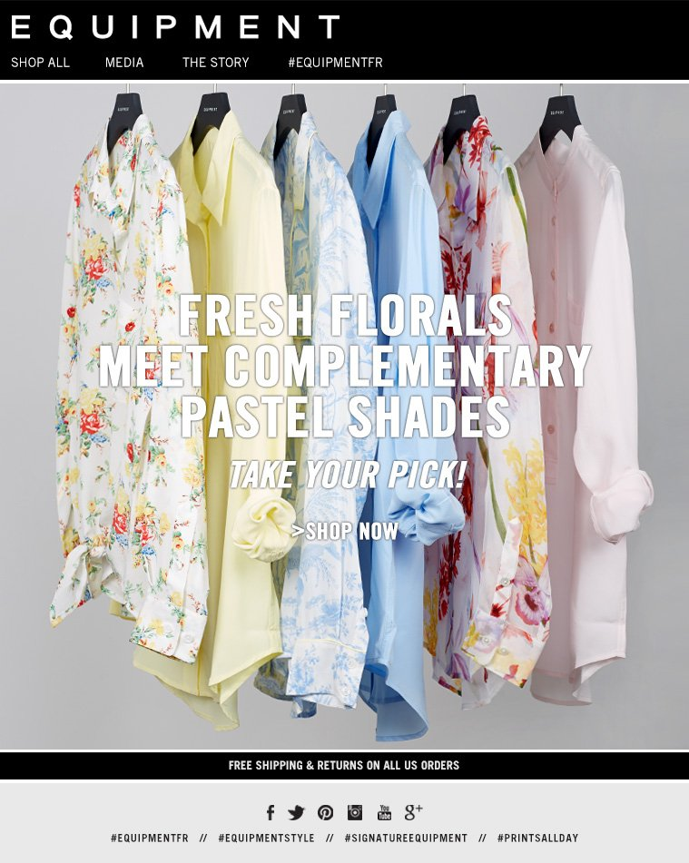 FRESH FLORALS MEET COMPLEMENTARY PASTEL SHADES TAKE YOUR PICK! >SHOP NOW