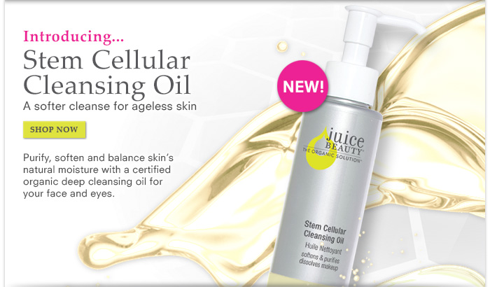 Introducing Stem Cellular Cleansing Oil - A softer cleanse for ageless skin