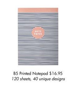 B5 Printed Notepad