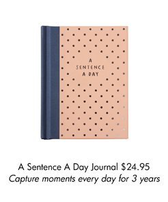 A Sentence A Day Journal