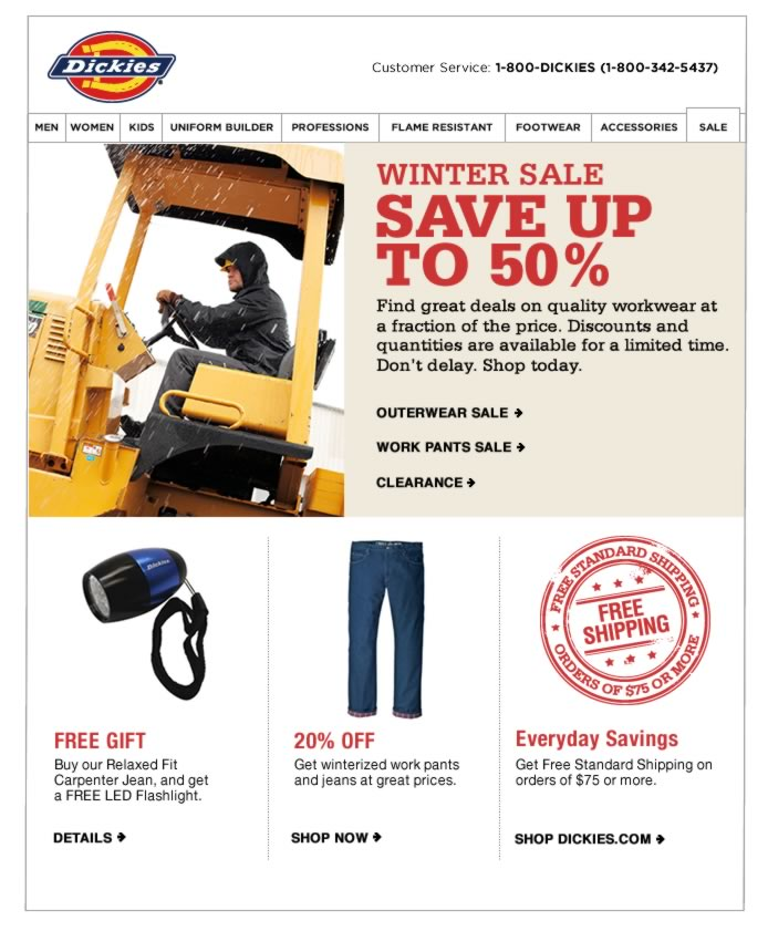 Save up to 50% on quality workwear