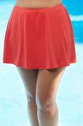 Women's Plus Size Swimwear - Beach House Separates Swim Skirt