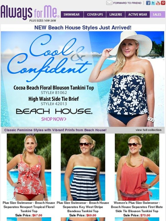 c620a0016ec Always for Me  Classic Feminine Beach House Swimwear JUST ARRIVED ...