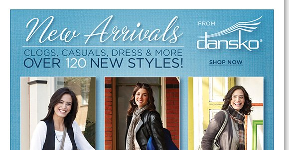 Step into the comfort and style of the NEW Dansko arrivals! Shop over 120 brand new clogs, casual and dress styles featuring the all-day comfort you love. Your #1 source for Dansko, find the best selection online and in stores at The Walking Company.