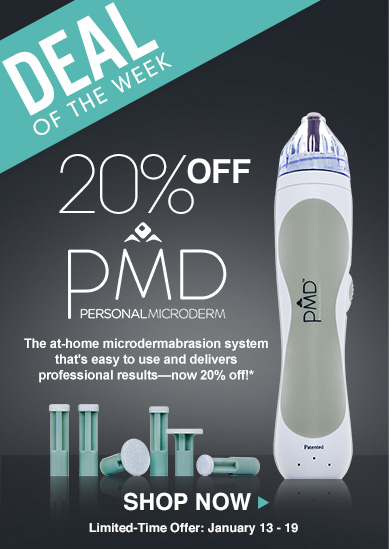 Deal of the Week: Save 20% on PMD Personal MicroDermThe at-home microdermabrasion system that's easy to use and delivers professional results—now 20% off!**Offer valid January 13 – 20Shop Now>>