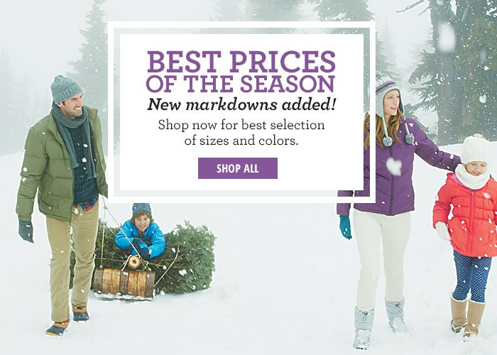 Best Prices of the Season- New Markdowns added!