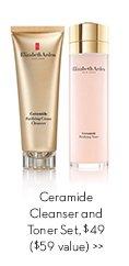 Ceramide Cleanser and Toner Set, $49 ($59 value).