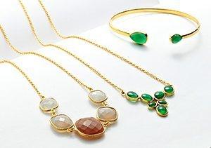 Hammered & Gemstone Jewelry