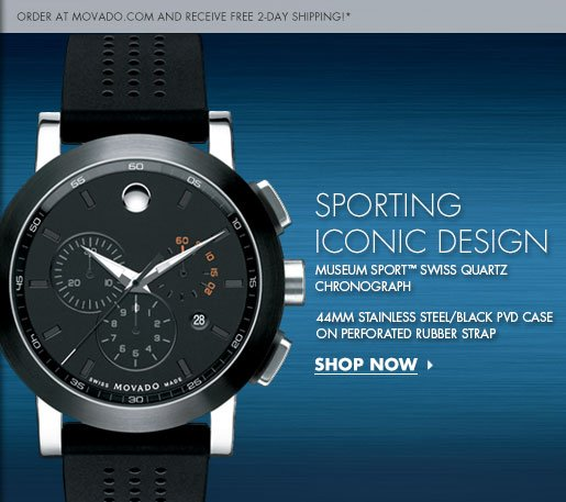 SPORTING ICONIC DESIGN - MUSEUM SPORT(TM) SWISS QUARTZ  CHRONOGRAPH - SHOP NOW