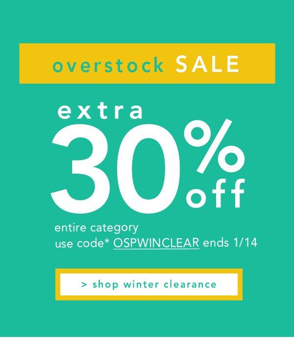 Shop overstock sale