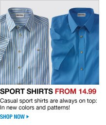 sport shirts from 14.99 - shop now