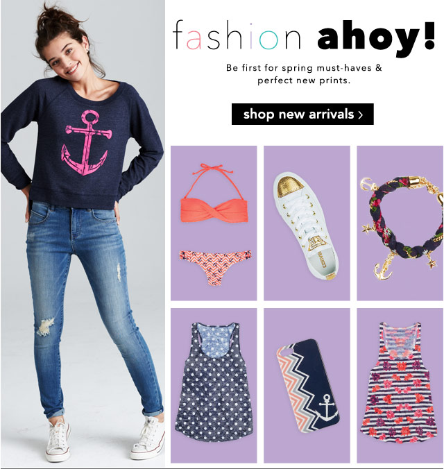 fashion ahoy! spring must-haves & perfect new prints.