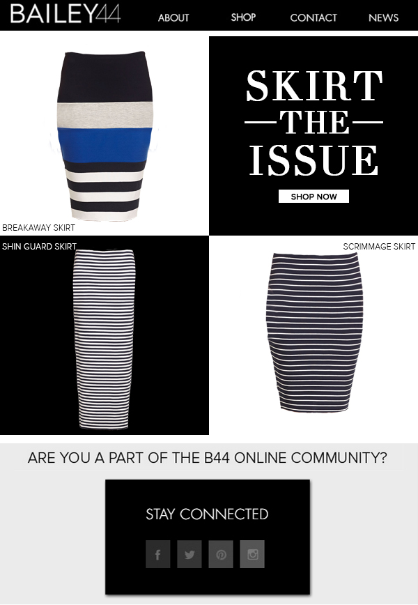 SKIRT THE ISSUE SHOP NOW
