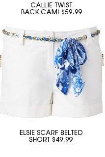 Elsie Scarf Belted Short.