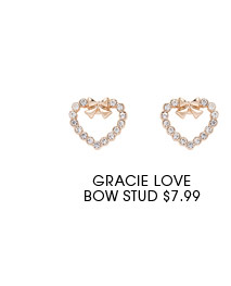 Gracie Love Bow Stud.