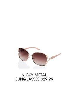 Nicky Metal Sunglasses.