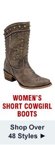 All Womens Short Cowgirl Boots on Sale