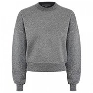 ALEXANDER WANG - Oversized glittered neoprene sweatshirt